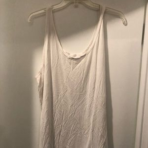 Flattering and comfy white tank